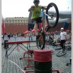 Велотриал на Красной площади