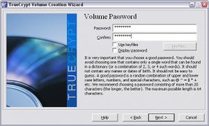 Truecrypt. Создание зашифрованного файла-образа. Ввод пароля