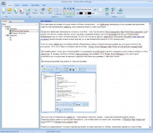 Techno Notes Manager. Главное окно программы