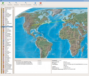 Карта сети Tor