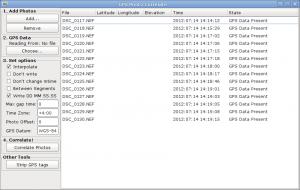 Окно программы после выбора файлов