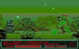 Самый первый враг, который попадается в игре. Большой и зеленый