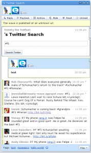Twitter в Google Wave