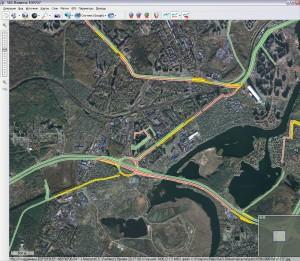 Карты Google и Яндекс.Пробки