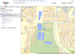 Поиск координат на Яндекс.Картах