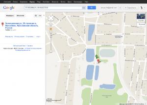 Поиск координат на картах Google